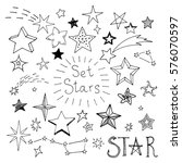 set of hand drawn stars. vector ... | Shutterstock .eps vector #576070597