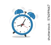 alarm clock blue wake up time... | Shutterstock .eps vector #576099667