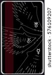 tarot cards   back design.  air ... | Shutterstock .eps vector #576109207