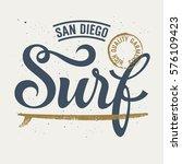 surfing artwork   surf handmade ... | Shutterstock .eps vector #576109423