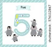 cute children flashcard number... | Shutterstock .eps vector #576112867