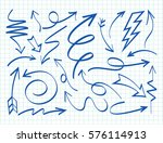 set of arrows vector... | Shutterstock .eps vector #576114913