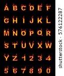 fire alphabet  cartoon style ... | Shutterstock . vector #576122287