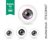human eyeballs set with big...   Shutterstock .eps vector #576128467