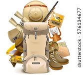 vector safari haversack | Shutterstock .eps vector #576134677
