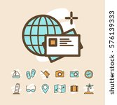 travel and vacation icons set | Shutterstock .eps vector #576139333