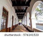 Empty Corridor Hallway With...