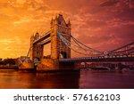 london tower bridge over thames ...   Shutterstock . vector #576162103