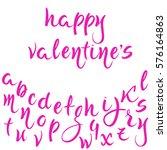 "lettering ""happy valentine's""... | Shutterstock .eps vector #576164863"