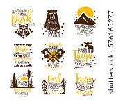alaska national park promo... | Shutterstock .eps vector #576165277