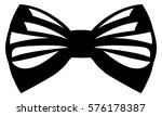 isolated bowtie icon on a white ... | Shutterstock .eps vector #576178387