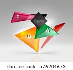 vector glass triangles... | Shutterstock .eps vector #576204673