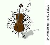 cello  violin  old technology ... | Shutterstock .eps vector #576211627
