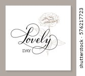 hand drawn card valentine's day.... | Shutterstock .eps vector #576217723