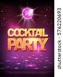 disco ball background. disco... | Shutterstock .eps vector #576220693