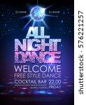 disco ball background. disco... | Shutterstock .eps vector #576221257