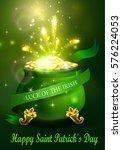 st. patrick s day symbol green... | Shutterstock .eps vector #576224053