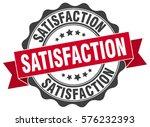 satisfaction. stamp. sticker.... | Shutterstock .eps vector #576232393