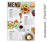 menu fast food graphic  design... | Shutterstock .eps vector #576237367