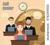 call center team concept....   Shutterstock . vector #576245503