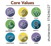 company core values outline... | Shutterstock .eps vector #576246127