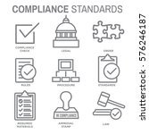 in compliance icon set  ... | Shutterstock .eps vector #576246187