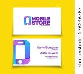 mobile store business card...   Shutterstock .eps vector #576246787