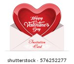 valentine's day invitation card ... | Shutterstock .eps vector #576252277