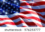flag of the usa with sparkles  | Shutterstock . vector #576253777