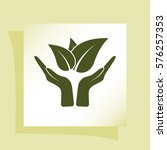 green eco friendly sign. vector ... | Shutterstock .eps vector #576257353