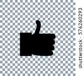 like icon vector. transporent... | Shutterstock .eps vector #576260293
