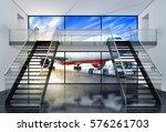 3d rendering of an airport... | Shutterstock . vector #576261703