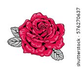 tattoo style rose illustration... | Shutterstock .eps vector #576270637