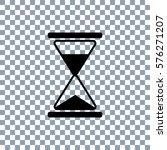 hourglass vector icon on... | Shutterstock .eps vector #576271207