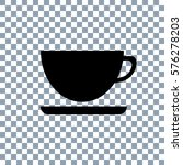 cup icon on transporent... | Shutterstock .eps vector #576278203