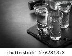 vodka shot drink. traditional...   Shutterstock . vector #576281353