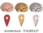 3d illustration   brain and... | Shutterstock . vector #576285127