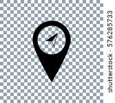 marker icon on transporent... | Shutterstock .eps vector #576285733