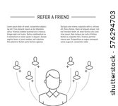 vector refer a friend concept... | Shutterstock .eps vector #576294703