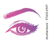 illustration with woman's eye... | Shutterstock .eps vector #576311947