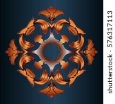 decor elements symmetrically... | Shutterstock .eps vector #576317113