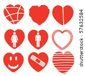 A Set Of Heart Icons With...