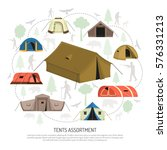 camping tents for every purpose ... | Shutterstock .eps vector #576331213