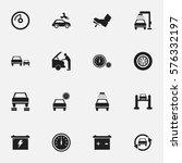 set of 16 editable transport... | Shutterstock . vector #576332197