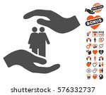 people care hands pictograph... | Shutterstock .eps vector #576332737