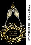 luxury wedding invitation card... | Shutterstock .eps vector #576335623