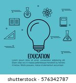 education set flat icons | Shutterstock .eps vector #576342787