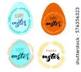 happy easter card. background.... | Shutterstock . vector #576356323