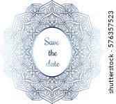 highly detailed mandala. hand... | Shutterstock .eps vector #576357523