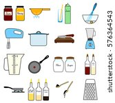 kitchenware set.cooking process ... | Shutterstock .eps vector #576364543